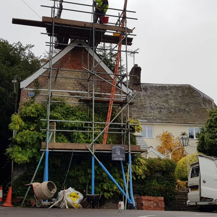 Chimney Building Scaffolding